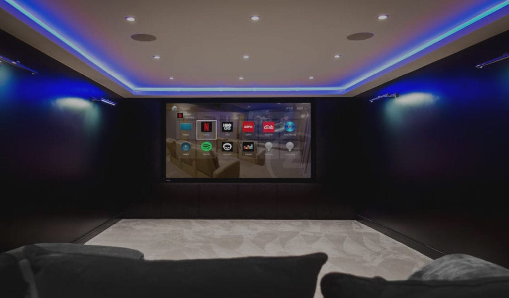 Home Cinema Room in Smart Home