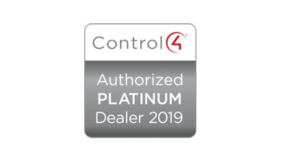 Control 4 Authorized Platinum Dealer 2019. IndigoZest is Control 4 Dealer of the Year 2019